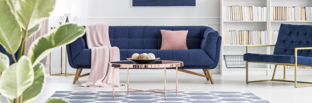 Różowo niebieskie mieszkanie
