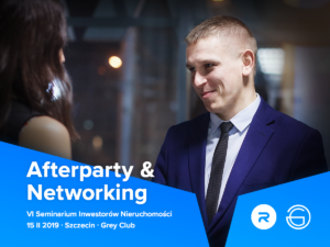 Facebook post - afterparty and networking